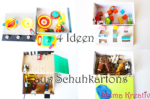 4 spielboxen aus schuhkartons basteln video mama kreativ. Black Bedroom Furniture Sets. Home Design Ideas