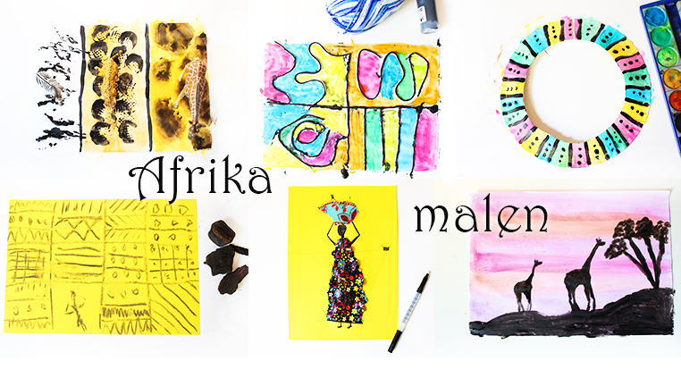 afrika malen afrikanische kunst f r kinder video mama kreativ. Black Bedroom Furniture Sets. Home Design Ideas