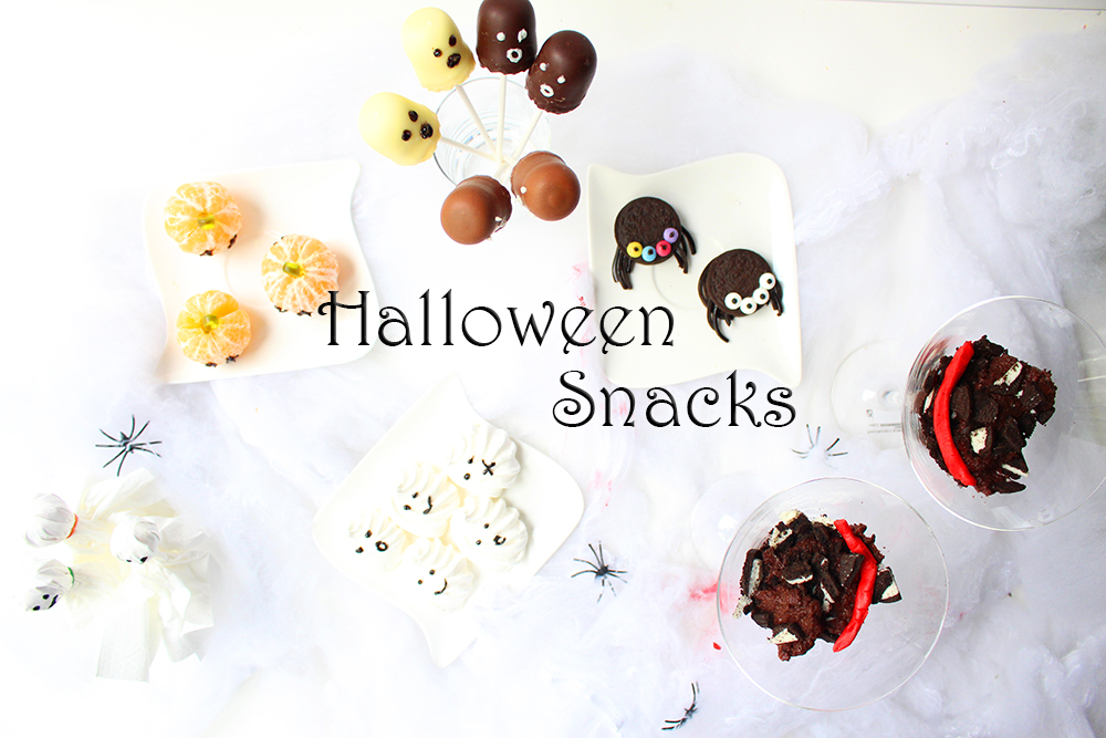einfache s e halloween snacks video mama kreativ. Black Bedroom Furniture Sets. Home Design Ideas