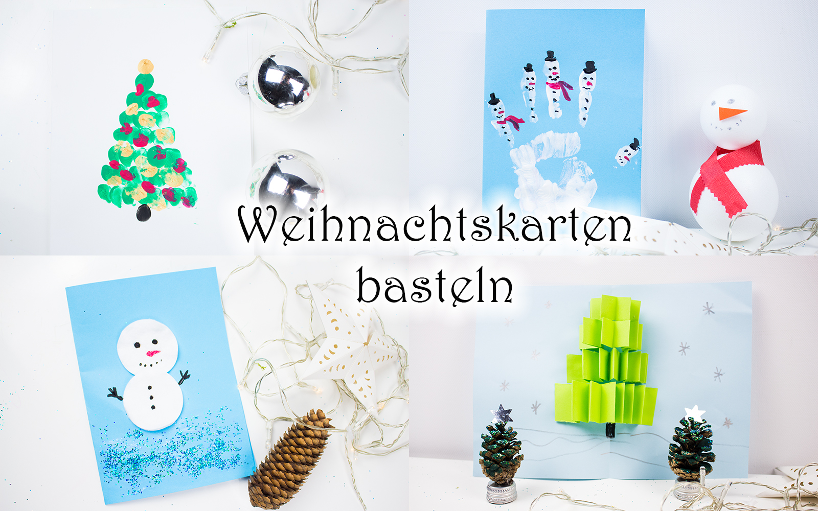 weihnachtskarten basteln mit kindern 5 schnelle ideen video mama kreativ. Black Bedroom Furniture Sets. Home Design Ideas