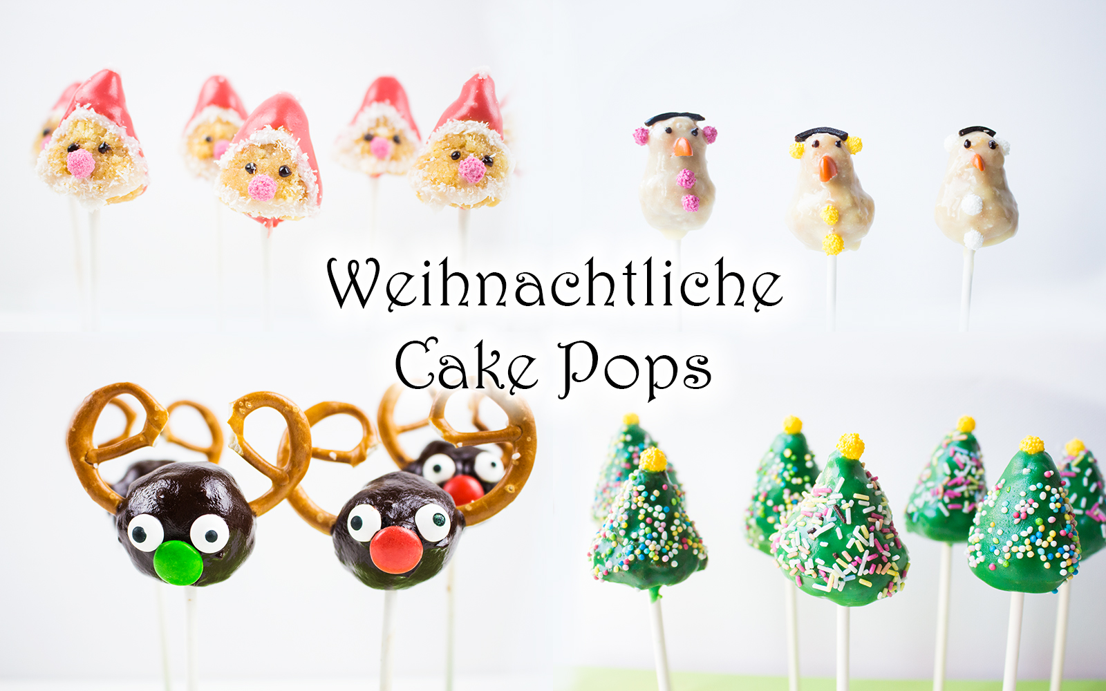 weihnachtliche cake pops 4 ideen video mama kreativ. Black Bedroom Furniture Sets. Home Design Ideas