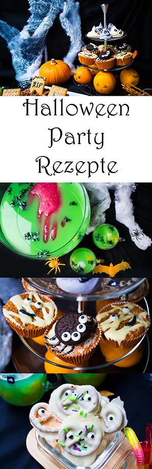 halloween party rezepte muffins kuchen baiser geister gruselige bowle und viel mehr ideen. Black Bedroom Furniture Sets. Home Design Ideas