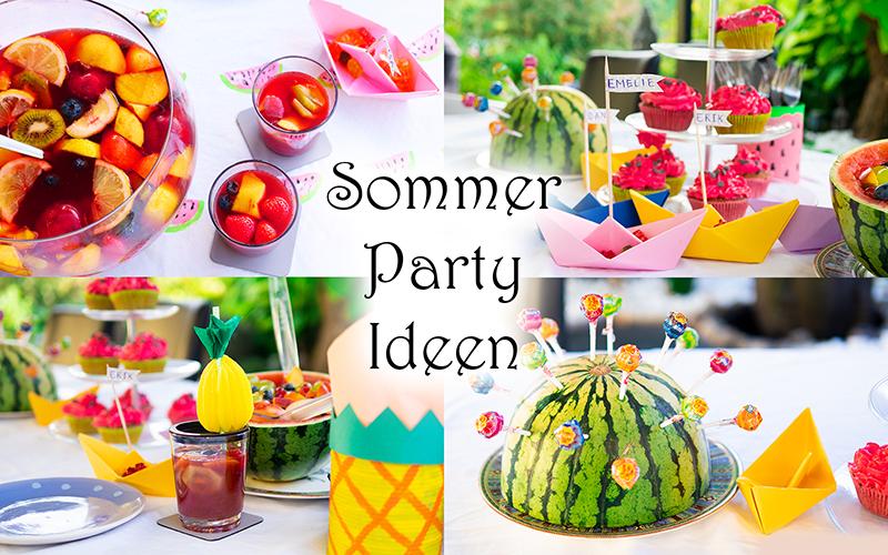 10 Sommer Party Ideen: Deko und Rezepte